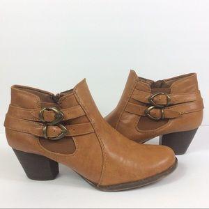 BareTraps Rilee Leather Ankle Boots Sz 9.5